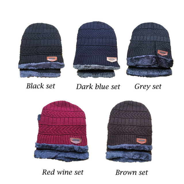 New Year Winter Hats Caps For Men Family Matching Parents Children Beanie Scarf Set Warm Knitted Hat Winter Cap gorras hombre 2