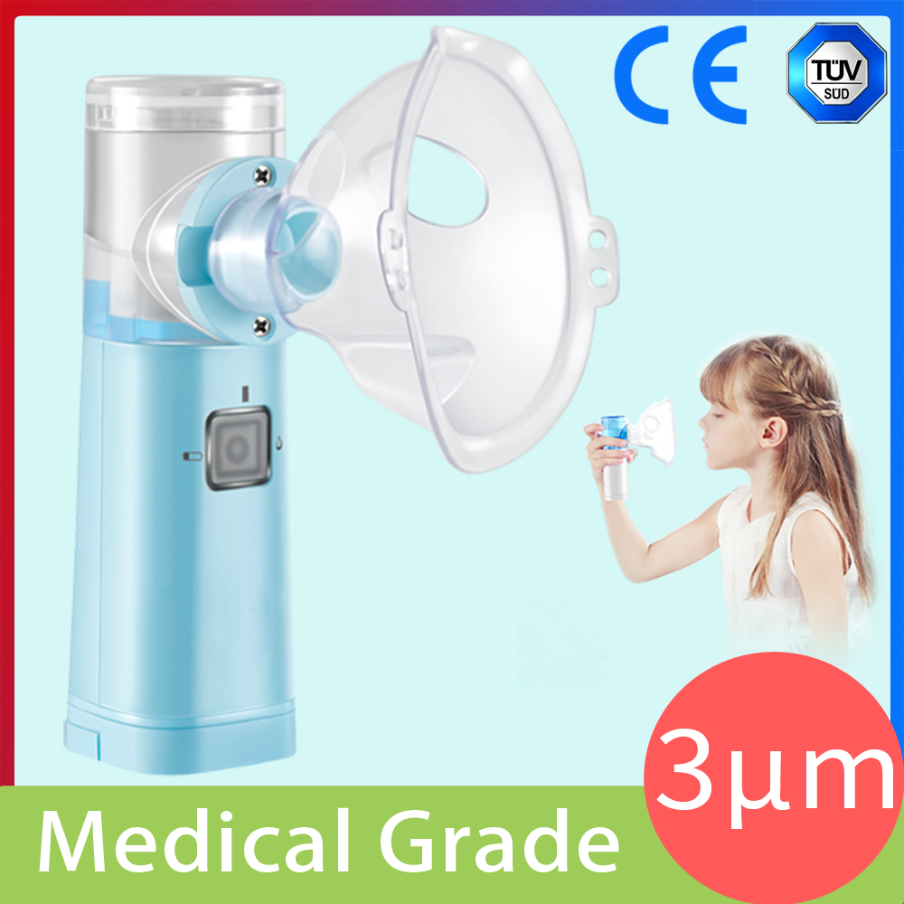 Portable Ultrasonic Nebulizer Asthma Inhaler 3μm Medical Grade Liquid Atomization