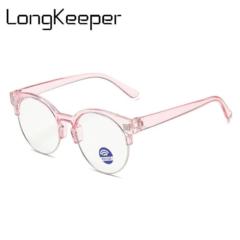 LongKeeper Kids Anti Blue Light Glasses New Children Semi-rimless Eyeglasses Boys Girls Clear Lens Spectacles Oculos Infantil