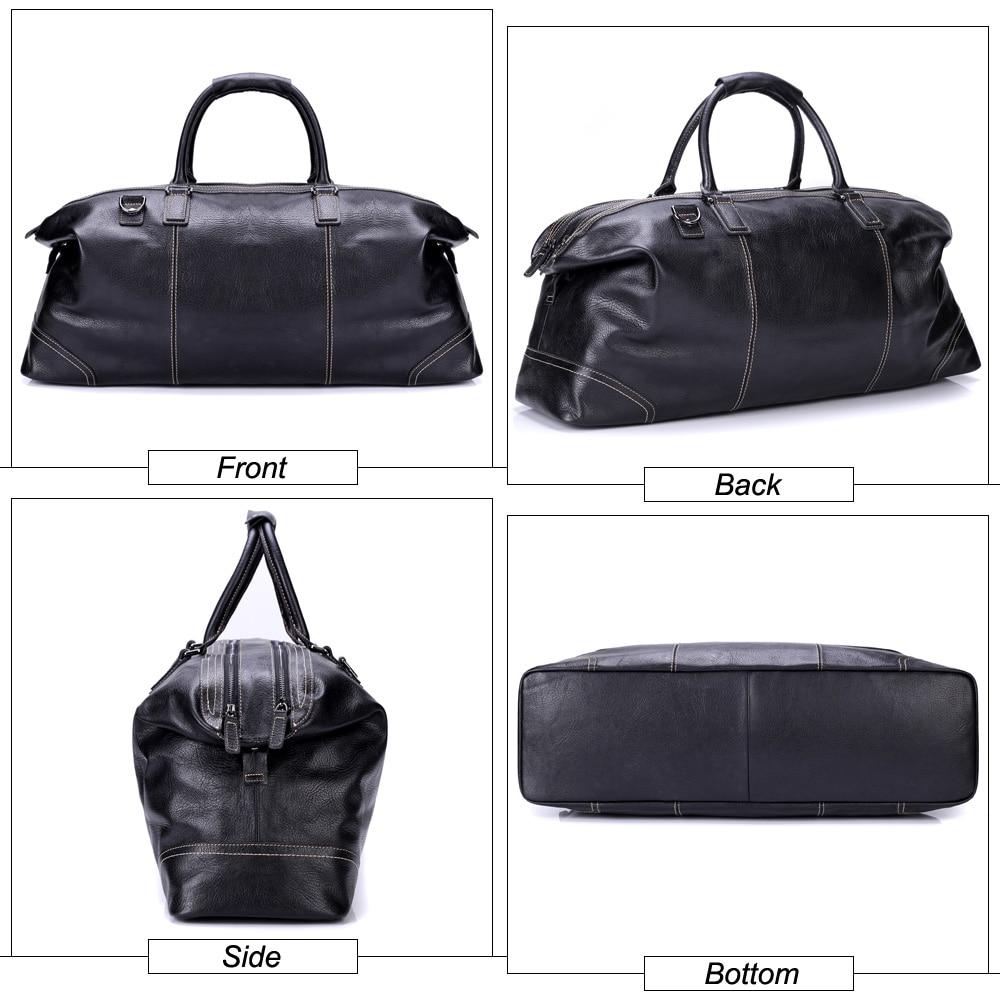 Flanker echtem leder männer reise duffle mode wochenende reisetaschen weiche kuh leder handtasche große schulter tasche große tote taschen - 2