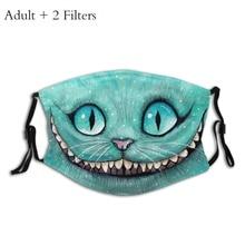 Washable Mask Cat-Alice's-Adventure Cheshire Funny Wonderland Protection's-Mask