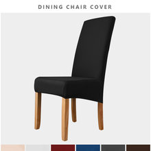 2 Types Extra Large Dining Chair Cover XL Size Slipcover for Chairs Long Back Kitchen Dining Room Chair Cover Elastic Stretch