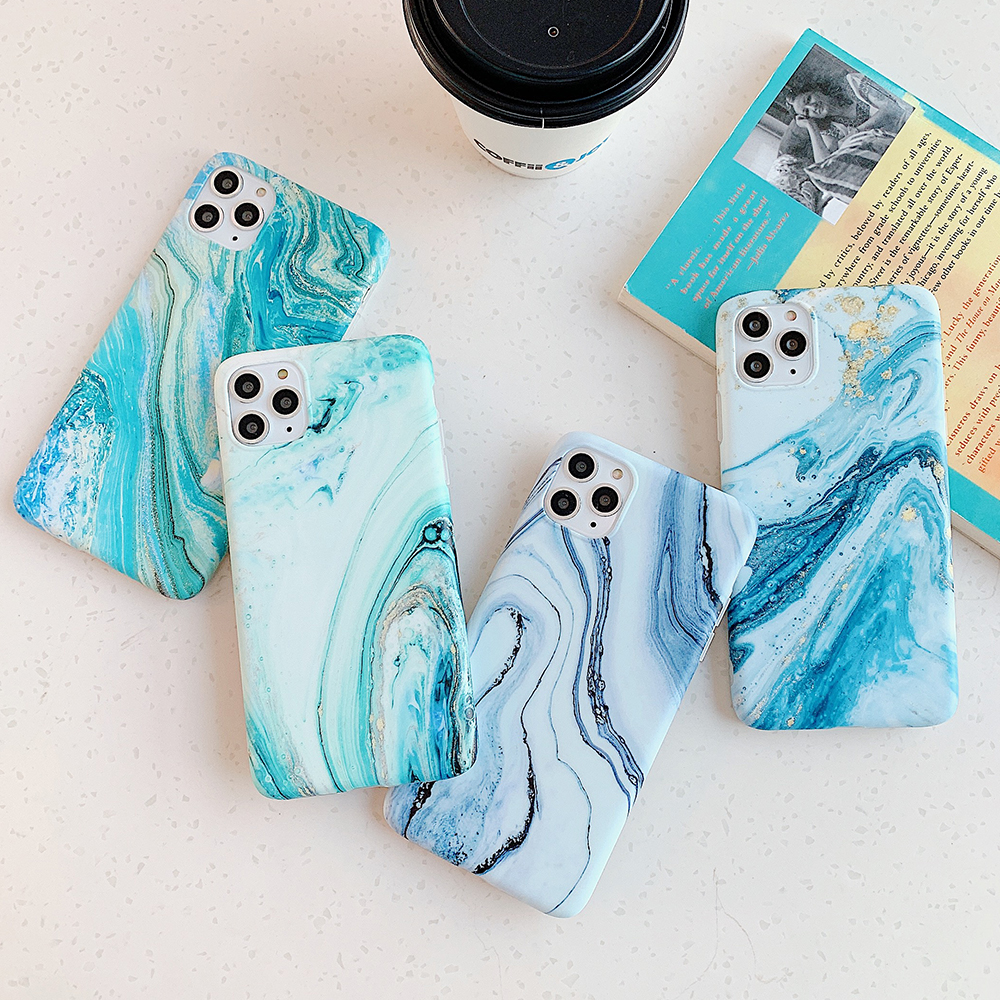 H4fbfa955105f43bcad91465f1f1c236cZ - LOVECOM Vintage Gradual Color Marble Phone Case For iPhone 11 Pro Max XR XS Max 6 6S 7 8 Plus X Matte Soft IMD Back Cover Coque