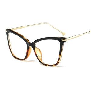Image 5 - MINCL Womens Fashion Designer Cat glasses Frames with Metal Reading Glasses Women Anti fatigue Eyewear NX