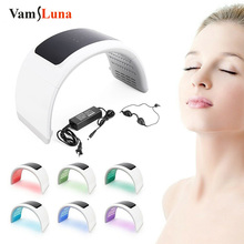 7 Colors LED PDT Bady Neck Face Machine 130 Big LED Light LED Photon Heat Care Acne Removal Anti-Aging Skin Therapy Massager