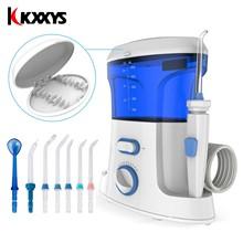 Oral Pulsing Irrigator 7pcs เคล็ดลับทันตกรรมสปาฟัน Water Flosser ไหมขัดฟัน 600ml Oral Hygiene ทันตกรรม Flosser น้ำ flossing