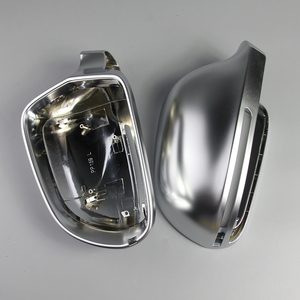 Image 3 - Car Mirror Cover For Audi B8 A3 A4 A5 A6 S4 RS4 S6 RS6 1 Pair of Matte Chrome Rearview Mirror Cover Protection Cap Car Styling