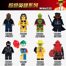 WM6020 Super Heroes HellBoy Joker Metallo Stripper Thuderbolts Luke Cage The Mask Fixer Blade Building Blocks Children Toys