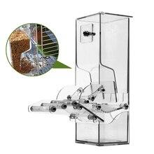 Нет Сплит кормушка для птиц для клетки, попугай автоматические кормушки системы питания Кормление станция, с окунь, один шаг формования