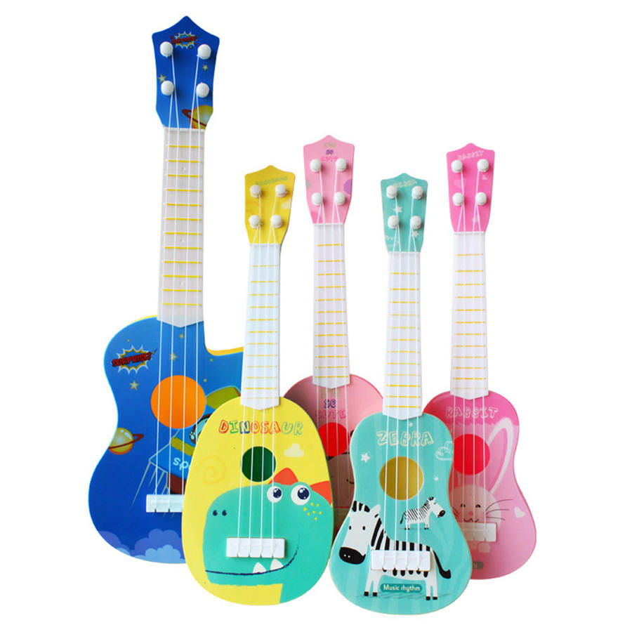 Kids Mini Ukulele Guitar Musical Instruments Toys For Children School Play Game Music Interest Development Toys Montessori Gift