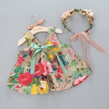 Kids Baby Girls Floral Printed Sleeveless Vest Tops + Shorts Sets Clothes