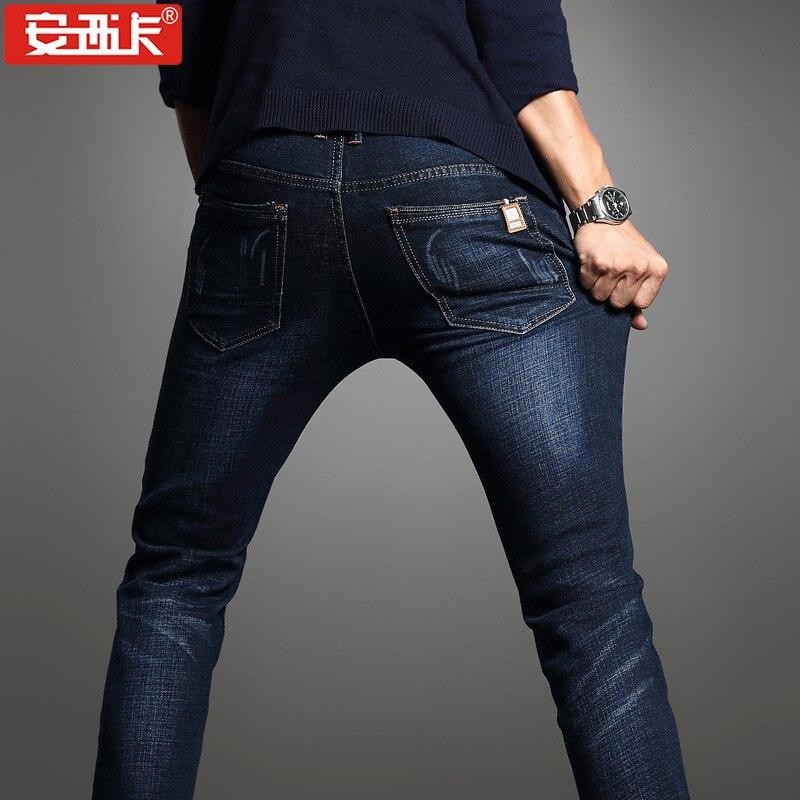 Spring Men'S Wear Straight-Cut Jeans Young MEN'S Korean-style Slim Fit Elasticity Jeans MEN'S Trousers 010