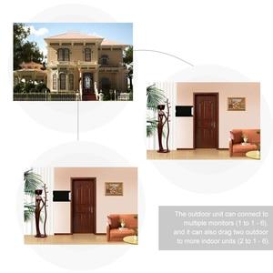 Image 5 - OWSOO 7 inç görüntülü kapı telefonu kapı zili interkom seti 2 kapalı monitör 1 açık kamera Hands free çağrı elektrikli kilit kontrol