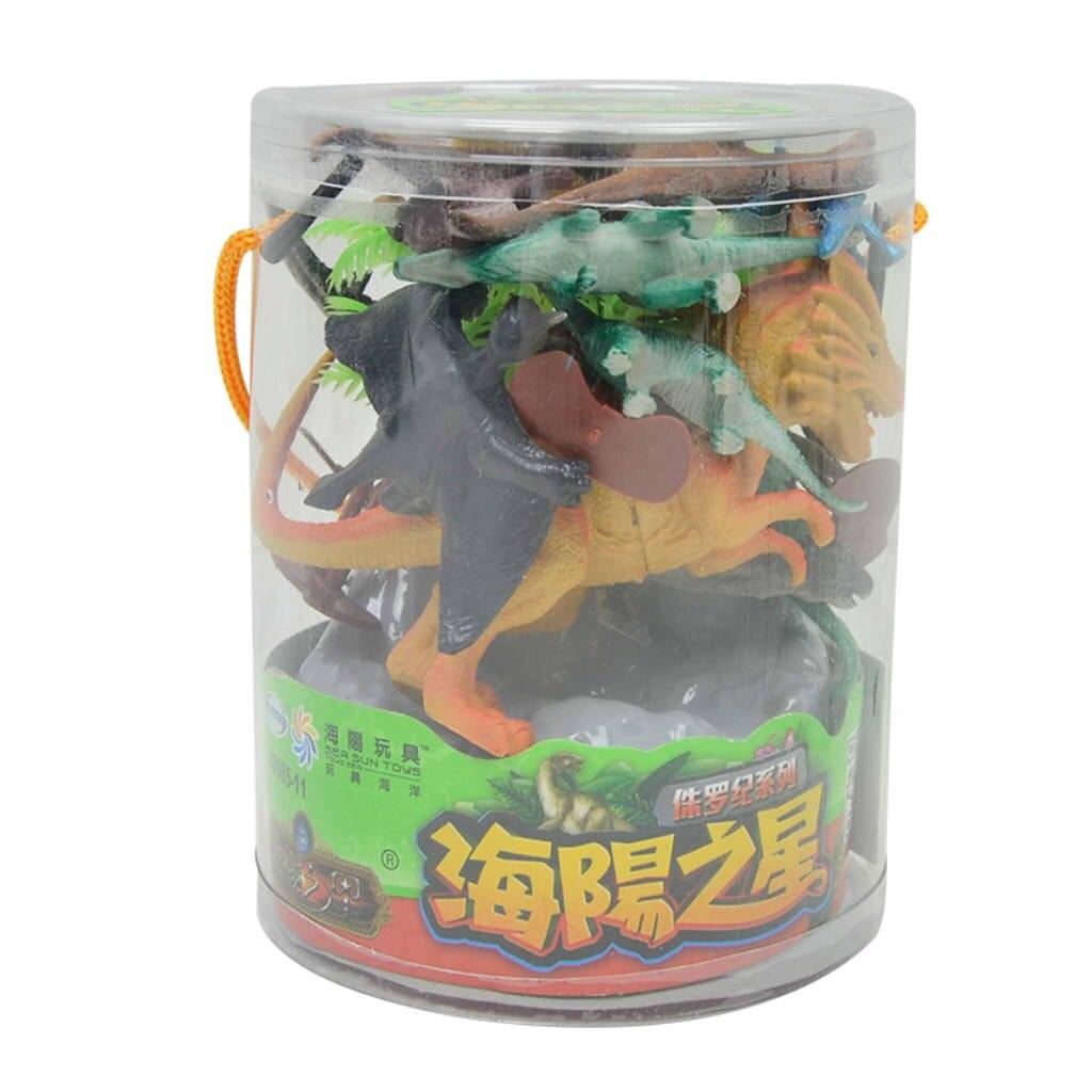 Набор из 19 пластиковых фигурок-динозавров, Детские обучающие и обучающие игрушки