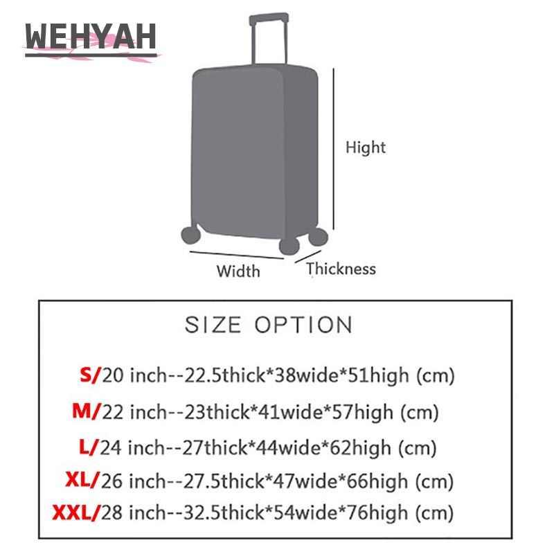 Wehyah โปร่งใส PVC กันน้ำกระเป๋าเดินทางกระเป๋าเดินทางท่องเที่ยว Accessorie ฝุ่น 20-28 ''ป้องกันกรณี ZY136