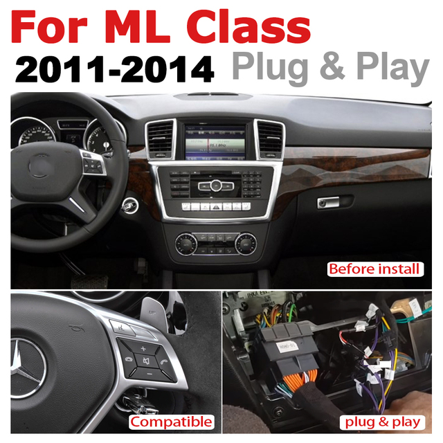 Écran tactile Android   Lecteur multimédia, affichage stéréo, navigation GPS pour Mercedes Benz ML GL CLass 2012 2013 2014 2015 NTG