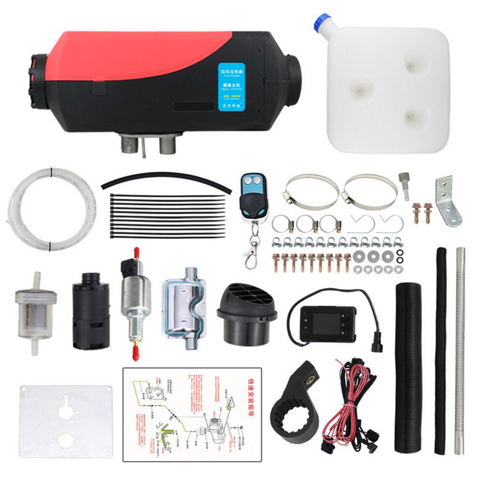 Low Emissions /& Low Fuel Consumption 12 V 2000 W Car Truck Van Cab Diesel Parking Heater Defroster Release Warm Hot Air with Accessories LCD Monitor Switch /& Remote Controller Automatic Control