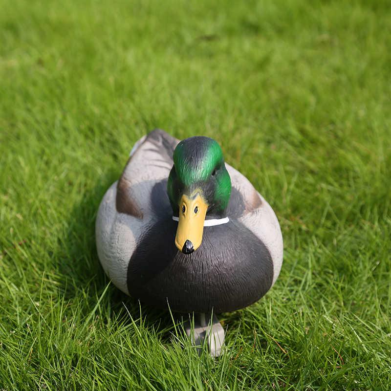 Lifelike Mallard Duck Decoy Floating Drake Duck Figurine Fishing Decoy