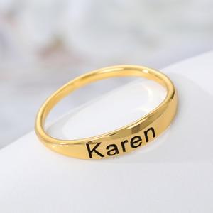 Кольцо из нержавеющей стали для мамы и дочки, персонализированные кольца с инициалами