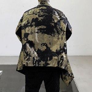 Image 2 - XITAO тренд бронзового цвета Блеск для губ куртка Для женщин Нерегулярные сценический Костюм Уличная плюс Размеры пальто Для женщин личности свободные топы ZLL4599