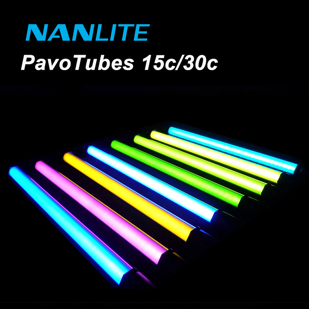Nanlite LED Light Tube 15C/30C Pavotube RGB Color Photography Light with Special Effect for Shooting Vlog Video Filmmaking