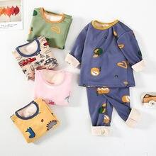Детские пижамы; Комплект одежды для мальчиков и девочек; Одежда