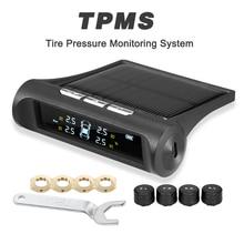 TPMS автомобильный датчик давления в шинах Система мониторинга дисплей мощность зарядки температура Предупреждение с 4 внешними датчиками s