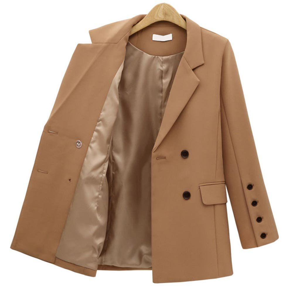 Jocoo Jolee Women England Style Blazer Long Sleeve Double Breasted Office Blazers And Jackets Female Casual Suits Outwear Tops