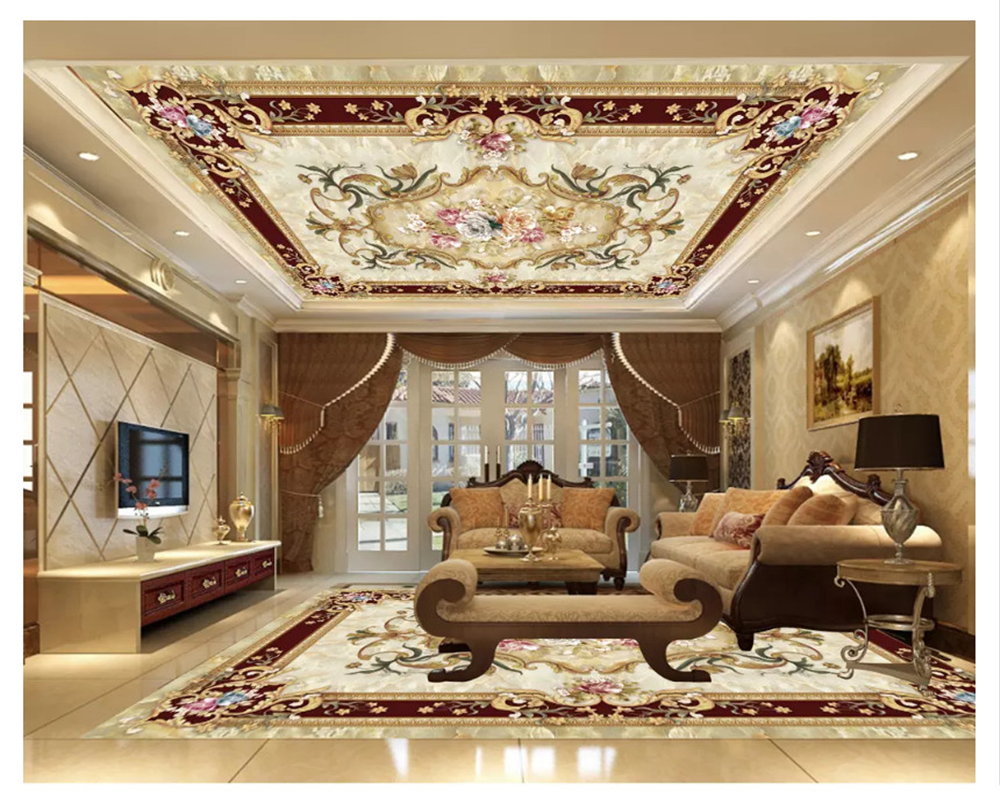 Beibehang Fashion Classic Decorative Painting Suitable Floor Marble European Pattern Jewelry Ceiling Papel De Parede Wallpaper