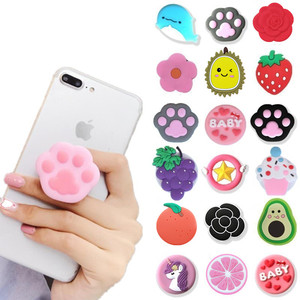 NEW 1PC Universal mobile phone bracket Cute 3D Animal airbag Phone Expanding Stand Finger Holder rabbit bear phone holder Stand