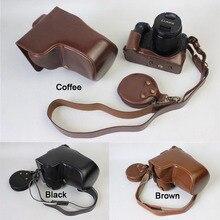 HQ 가죽 카메라 가방 12 60 렌즈와 파나소닉 DMC GH5 하드 케이스 그립 스트랩