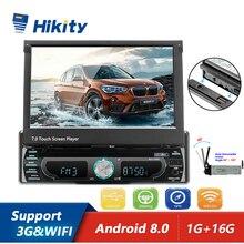Hikity راديو السيارة 7 بوصة ، Android ، MP5 ، GPS ، FM ، مشغل الوسائط ، Bluetooth ، USB ، SD ، شاشة تعمل باللمس ، 1din