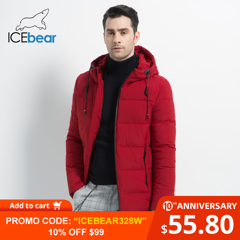 ICEbear 2019 New Men's Winter Jacket High Quality Men's Coat Hooded Male Coat Thicken Warm Man Apparel MWD18925I