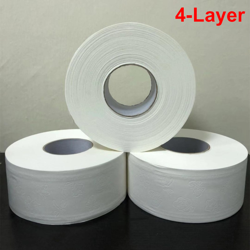 1 Roll 4-Layer Household Toilet Tissue Native Wood Pulp Soft  Skin Friendly Thicken Toilet Paper For Home Hotel Restaurant