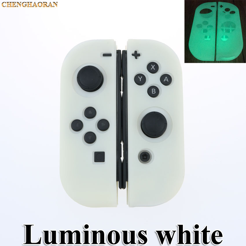 Luminous White Silicone Case For NS Switch Cover Joycon Case Soft Controller Shell Console Protective Controller Joy-con Cover