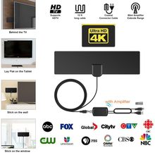 Amplified HD Digital TV Antenna 80 Mile-Range Support 4K VHF UHF Freeview Local Channel With Amplifier Signal Booster Coax Cable(China)
