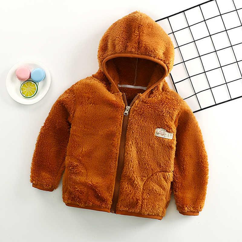 เสื้อสำหรับฤดูใบไม้ร่วงฤดูหนาวแจ็คเก็ตเด็กวัยหัดเดินเด็กเสื้อขนสัตว์ขนแกะนุ่ม WARM เสื้อผ้า hoodies สาววัยรุ่น 8/10/12 ปี
