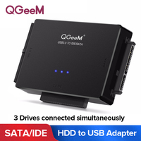 QGeeM SATA to USB IDE Adapter USB 3.0 Sata 2.5 3.5 Hard Disk Drive HDD SSD USB Converter IDE SATA to USB SATA Adapter Cable|Computer Cables & Connectors|Computer & Office -