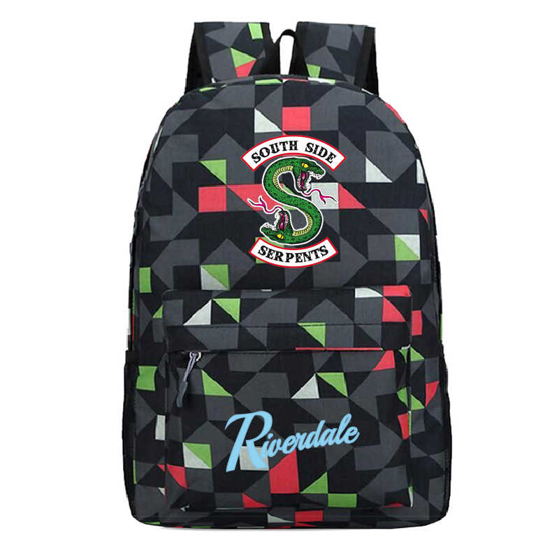 Riverdale American TV Series Cosplay Backpack Students Teenager Bag Anime Oxford Schoolbags Unisex Travel Laptop Bag Gift