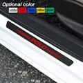 4 шт. наклейки на пороги автомобиля из углеродного волокна против царапин для Volkswagen VW Polo 2010-2020 аксессуары