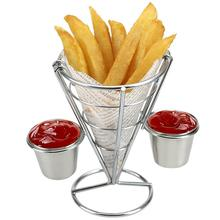 14.5CMX10CM Plating French Fries Stand Buffet Cone Snacks Display Stand Fries Baskets Buffet Cone Snack Display Stand the buffet