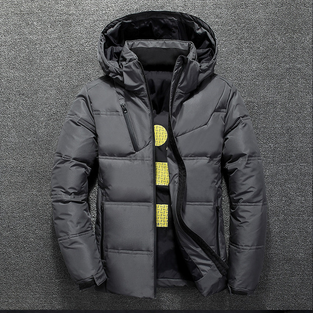 Winter Warm Men Jacket Coat Casual Autumn Stand Collar Puffer Thick Hat White Duck Parka Male Men's Winter Down Jacket With Hood 4