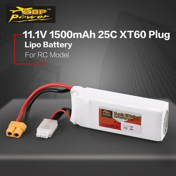 ZOP Power 11.1V/14.8V 1500mAh  1800mAh 25C 40C 65C 3S  3S 4S1P Lipo Battery XT60 Plug Rechargeable