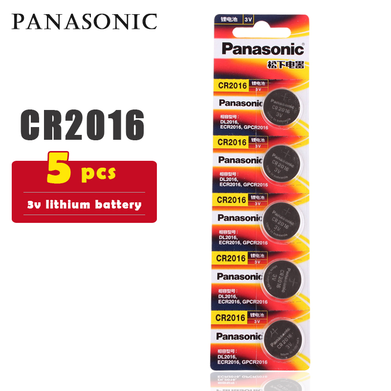 5PCS/lot PANASONIC Original CR2016 Button Cell Battery 3V Lithium Batteries CR 2016 for Watch Toys Computer Calculator Control
