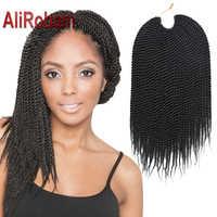 AliRobam Havanna Mambo Twist Häkeln Braid Haar Synthetische Ombre Braun Senegalese Twist Häkeln Twist Braid 30 stränge pro stück