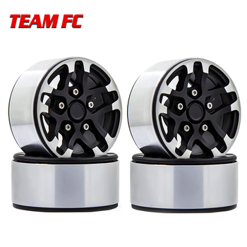 4PCS Metal 1.9inch Beadlock Wheel Rim  Wheel Hub for 1/10 RC Crawler Axial SCX10 II 90046 TRX-4 Tamiya 4pcs metal wheel rim beadlock wheel hub 1 55 inch rc car aluminum alloy black wheel rim for 1 10 rc crawler car model toy