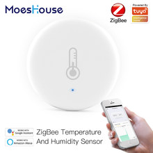MoesHouse Tuya Smart ZigBee Smart Temperature And Humidity Sensor Battery Powered Security With Tuya Smart Life App Alexa