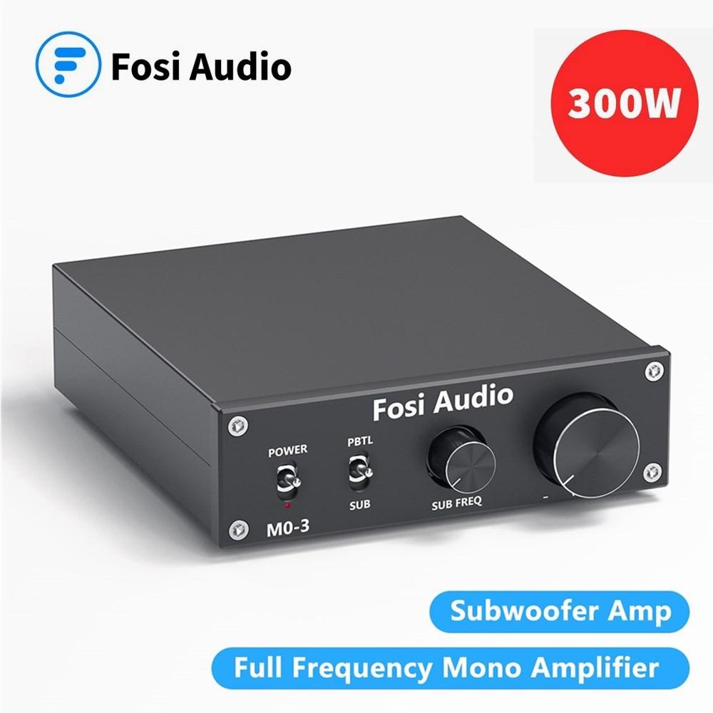 Fosi аудио M03 усилитель мощности сабвуфера 300 Вт моно аудио Amp цифровой Hifi домашний усилитель
