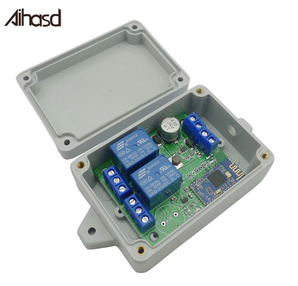 2-канальный релейный модуль Aihasd, Bluetooth 4,0 переключатель BLE для Apple Android Phone IOT с коробкой