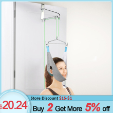 Hanging Neck Traction Device Cervical Correction Stretcher Pain Relief Neck Traction Frame Cervical Traction Fixation